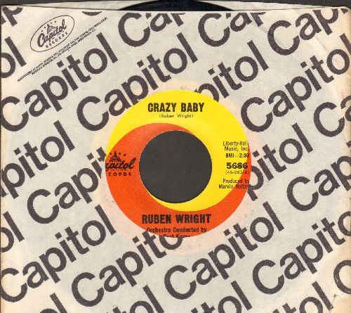 Wright, Ruben - Crazy Baby/Everybody Needs Somebody (with Capitol company sleeve) - NM9/ - 45 rpm Records