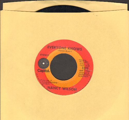 Wilson, Nancy - Everone Knows/The Greatest Performance Of My Life - EX8/ - 45 rpm Records