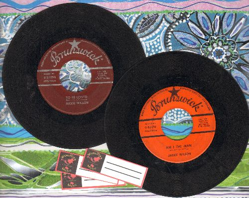 Wilson, Jackie - 2 for 1 Special: To Be Loved/Am I The Man (2 vintage first issue 45rpm records with 3 blank juke box labels for the price of 1!) - VG6/ - 45 rpm Records