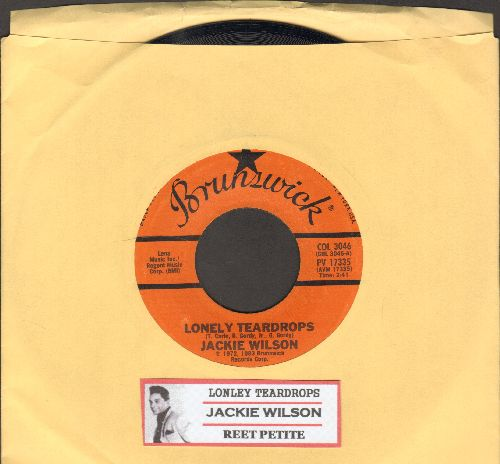 Wilson, Jackie - Lonely Teardrops/Reet Petite (double-hit re-issue with juke box label) - EX8/ - 45 rpm Records