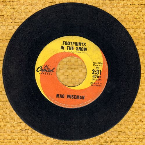 Wiseman, Mac - Footprints In The Snow/Just Outside - VG6/ - 45 rpm Records