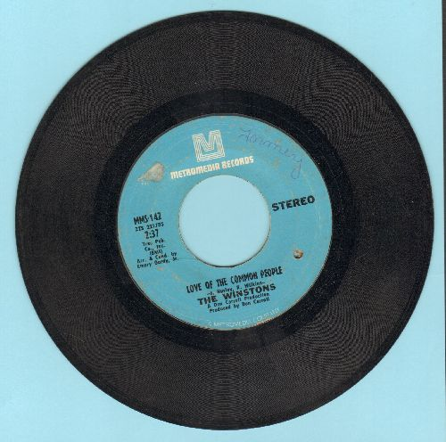 Winstons - Love Of The Common People/Wheel Of Fortune (bb) - VG7/ - 45 rpm Records