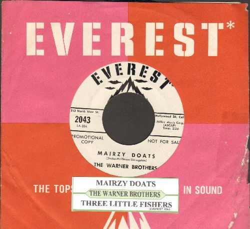 Warner Brothers - Three Little Fishes/Mairzy Doats (DJ advance pressing) - NM9/ - 45 rpm Records