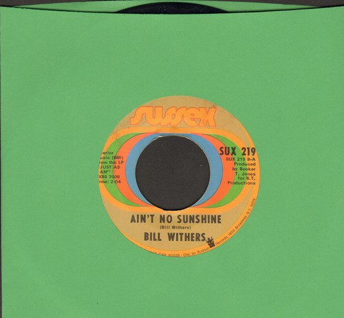 Withers, Bill - Ain't No Sunshine/Harlem (wol) - VG7/ - 45 rpm Records