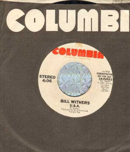 Withers, Bill - U.S.A. (double-A-sided DJ advance pressing with Columbia company sleeve) - M10/ - 45 rpm Records