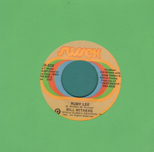 Withers, Bill - Ruby Lee/Heartbreak Road - EX8/ - 45 rpm Records