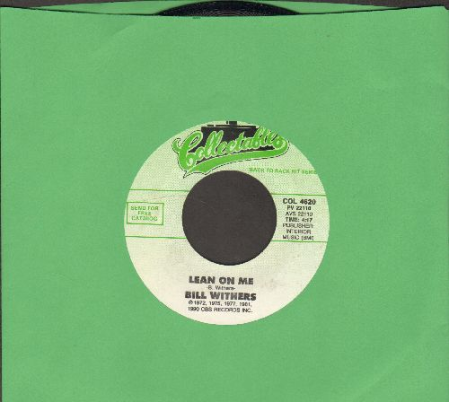 Withers, Bill - Lean On Me/Grandma's Hands (double-hit re-issue) - NM9/ - 45 rpm Records
