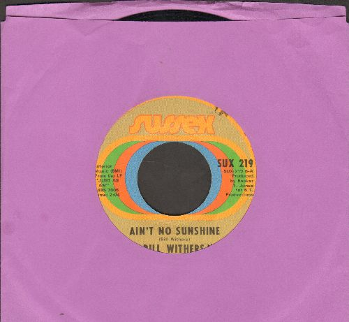 Withers, Bill - Ain't No Sunshine/Harlem  - EX8/ - 45 rpm Records