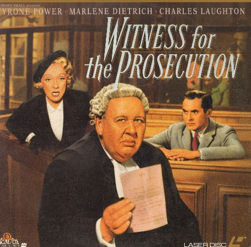 Witness For The Prosecution - Witness For The Prosecution - LASERDISC version of the Classic Court Room Drama, Letterbox Edition (this is a LASERDISC, NOT any other kind of media!) - NM9/EX8 - LaserDiscs