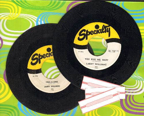Williams, Larry - 2 for 1 Special: Ting-A-Ling/You Bug Me, Baby (2 vintage first issue 45rpm records for the price of 1!) - VG7/ - 45 rpm Records