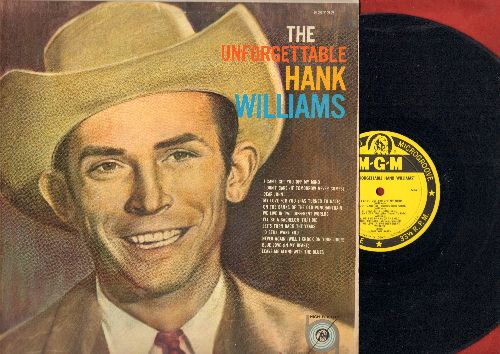 Williams, Hank - The Unforgettable Hank Williams: Dear John, Blue Love, I'll Be A Bachelor 'Til I Die (Vinyl MONO LP record) - EX8/EX8 - LP Records