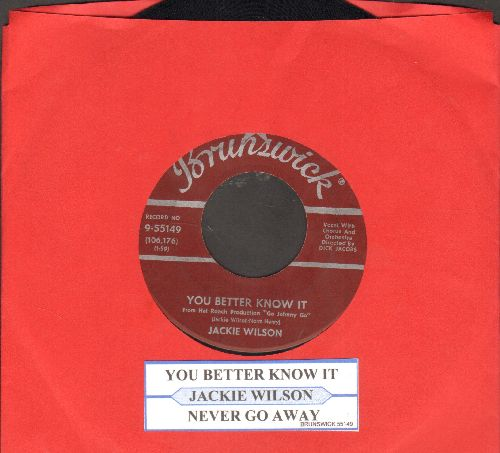 Wilson, Jackie - You Better Know It/Never Go Away - NM9/ - 45 rpm Records