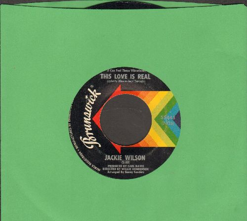 Wilson, Jackie - This Love Is Real/Love Uprising  - EX8/ - 45 rpm Records