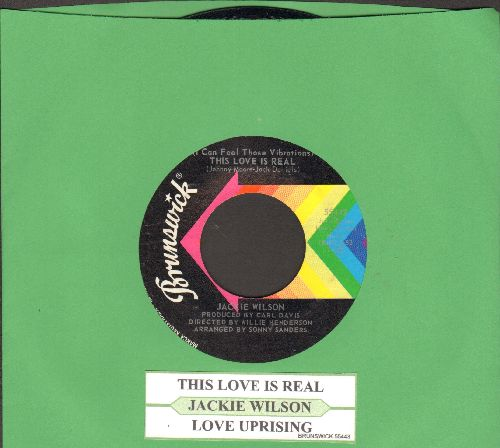 Wilson, Jackie - (I Can Feel Those Vibrations) This Love Is Real/Love Uprising (with juke box label) - NM9/ - 45 rpm Records