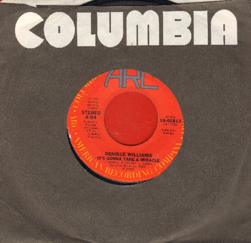 Williams, Deniece - It's Gonna Take A Miracle/A Part Of Love (with company sleeve) - VG7/ - 45 rpm Records