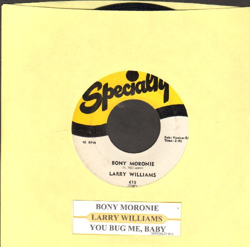 Williams, Larry - Bony Moronie/You Bug Me, Baby (with juke box label) - NM9/ - 45 rpm Records