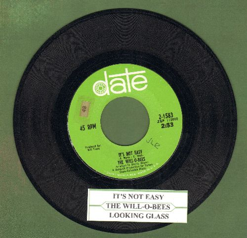 Will-O-Bees - It's Not Easy/Looking Glass (with juke box label) - NM9/ - 45 rpm Records