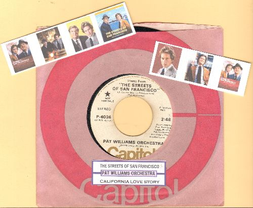 Williams, Pat Orchestra - Theme From -The Streets Of San Francisco-/California Love Story (Instrumental) (EXTREMELY RARE DJ advance pressing with juke box label and company sleeve) - VG7/ - 45 rpm Records