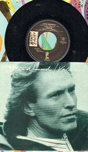 Winwood, Steve - Valerie/Talking Back To The Night (Instrumental) (with picture sleeve) - EX8/EX8 - 45 rpm Records