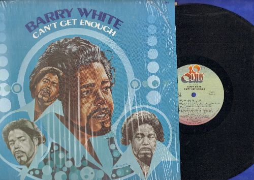 White, Barry - Can't Get Enough: You're The First The Last My Everything, Mellow Mood (Parts 1 + 2). Can't Get Enough Of Your Lover (vinyl STEREO LP record, shrink wrap) - NM9/NM9 - LP Records