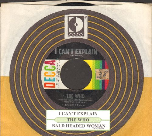 Who - I Can't Explain/Bald Headed Woman (with Decca company sleeve and juke box label)(sol) - EX8/ - 45 rpm Records