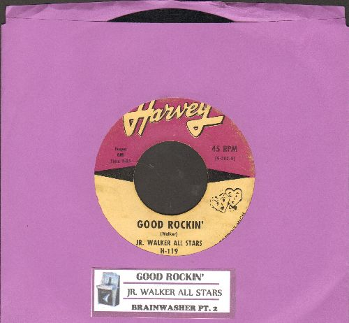 Walker, Jr. All Stars - Good Rockin'/Brainwasher Pt. 2 (RARE early Soul Instrumental 2-sider with juke box label) - VG6/ - 45 rpm Records