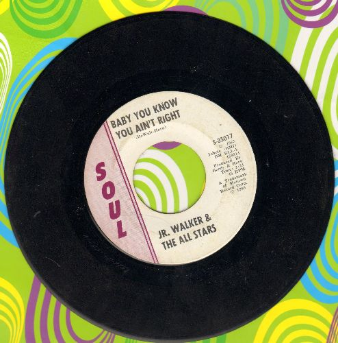 Walker, Jr. & The All Stars - Baby You Know You Ain't Right/Cleo's Mood (wol) - EX8/ - 45 rpm Records