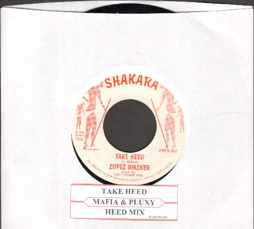 Wacker, Lopez - Take Heed/Heed Mix (RARE Reggae Novelty 2-sider, British DJ advance pressing) - NM9/ - 45 rpm Records