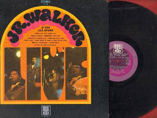 Walker, Jr. & The All Stars - LIVE!: (I'm A) Road Runner, How Sweet It Is (To Be Loved By You), Shotgun, Shake And Fingerpop (Vinyl STEREO LP record) - NM9/EX8 - LP Records