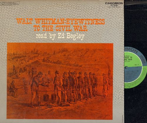 Begley, Ed - Walt Whitman: Eyewitness To The Civil War - Read By Ed Begley (2 vinyl STEREO LP records, gate-fold cover) - NM9/EX8 - LP Records
