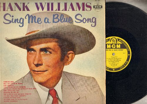 Williams, Hank - Sing Me A Blue Song: Wedding Bells, Mansion On The Hill, Lost Highway, I've Just Told Mama Goodbye (vinyl MONO LP record, yellow label 1957 first pressing) - VG7/VG7 - LP Records