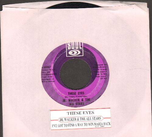 Walker, Jr. & The All Stars - These Eyes/I've Got To Find A Way To Win Maria Back (with juke box label) - EX8/ - 45 rpm Records