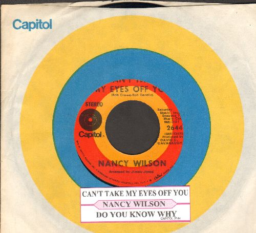 Wilson, Nancy - Can't Take My Eyes Off You/Do You Know Why (with juke box label and Capitol company sleeve) - NM9/ - 45 rpm Records