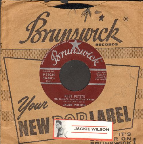 Wilson, Jackie - Reet Petite/By The Light Of The Silvery Moon (maroon label first issue with RARE Brunswick company sleeve) - EX8/ - 45 rpm Records