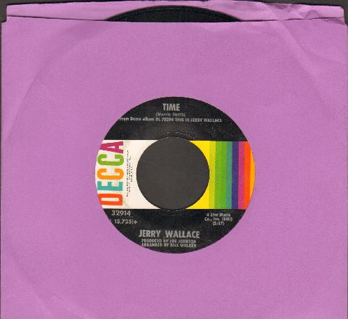 Wallace, Jerry - Time/To Get To You - EX8/ - 45 rpm Records
