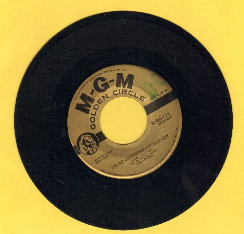 Williams, Hank - I'm So Lonesome I Could Cry/Cold, Cold Heart (early double-hit re-issue) - VG7/ - 45 rpm Records