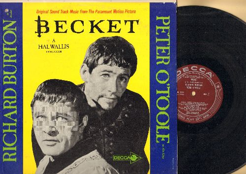 Becket - Becket - Original sound track music from the Paramount Motion Picture starring Richard Burton and Peter O'Toole (vinyl MONO LP record, burgundy label first pressing) - NM9/EX8 - LP Records