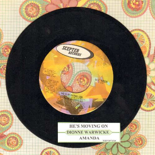 Warwick, Dionne - He's Moving On/Amanda (with juke box label) - EX8/ - 45 rpm Records
