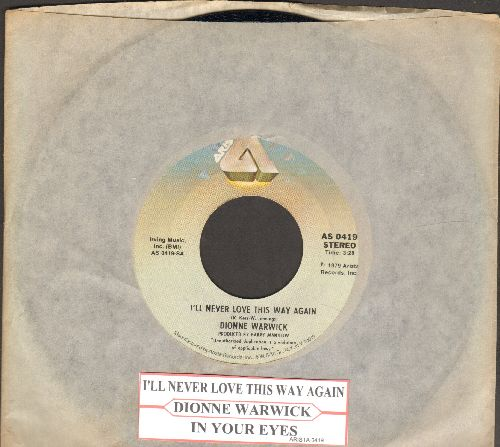 Warwick, Dionne - I'll Never Fall In Love Again/What The World Needs Now Is Love (with juke box label and company sleeve) - NM9/ - 45 rpm Records