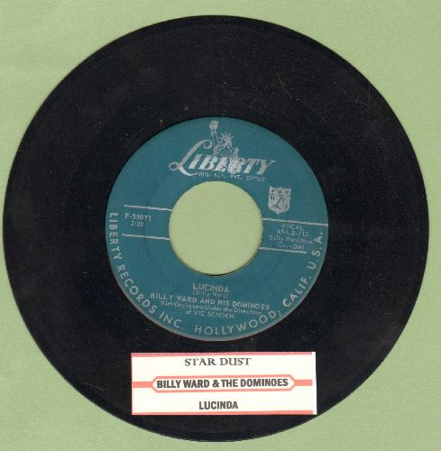 Ward, Billy & His Dominoes - Star Dust/Lucinda (with juke box label) - EX8/ - 45 rpm Records
