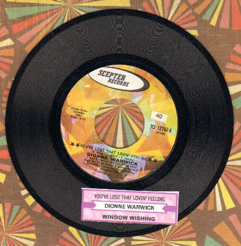 Warwick, Dionne - You've Lost That Lovin' Feeling/Window Wishing (with juke box label) - NM9/ - 45 rpm Records