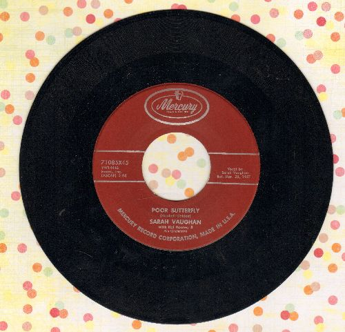 Vaughan, Sarah - Poor Butterfly/April Give Me One More Day - VG7/ - 45 rpm Records
