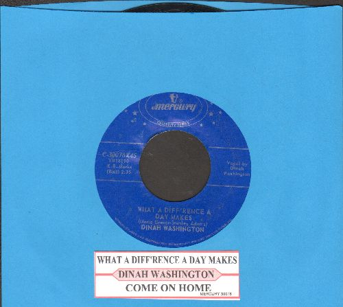 Washington, Dinah - What A Difference A Day Makes/Come On Home (authentic-looking re-issue with juke box label) - NM9/ - 45 rpm Records