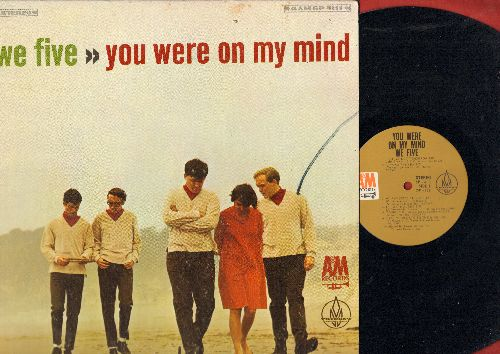 We Five - You Were On My Mind: My favorite Things, Cast Your Fate To The Wind, Beyond The Sea, Softly As I Leave You, Can't Help Falling In Love (vinyl STEREO LP record) - EX8/EX8 - LP Records