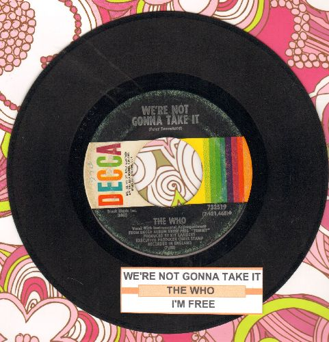 Who - We're Not Gonna Take It/I'm Free (with juke box label) - VG7/ - 45 rpm Records