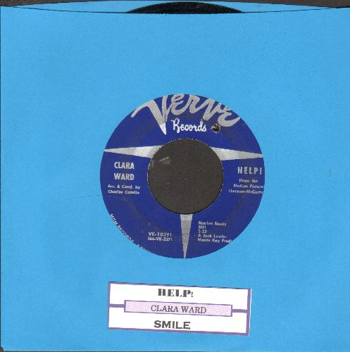 Ward, Clara - Help!/Smile (RARE 60s Soul 2-sider with juke box label) (bb) - EX8/ - 45 rpm Records