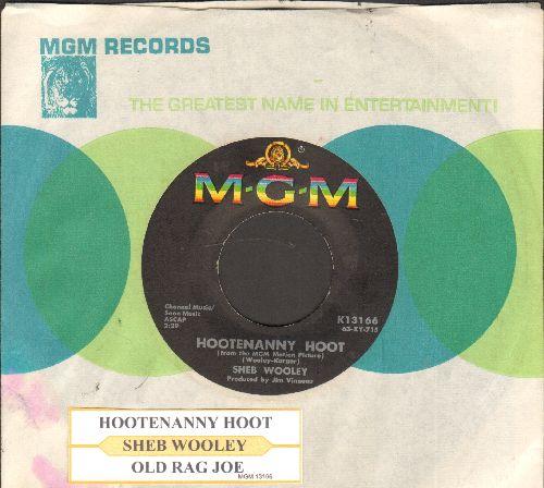 Wooley, Sheb - Hootenanny Hoot/Old Rag Joe (with juke box label and MGM company sleeve) - NM9/ - 45 rpm Records
