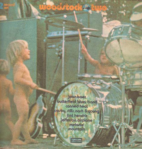 Woodstock Two - Woodstock Two: More Live Performances from the Legendary 1969 Music Happening (2 vinyl STEREO LP records, gate-fold cover) - EX8/VG6 - LP Records