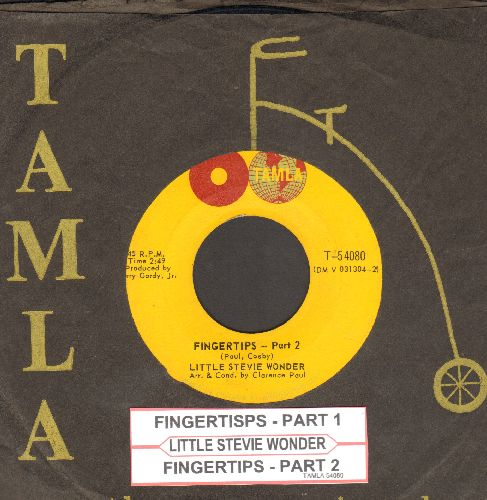 Wonder, Stevie - Fingertips (Parts 1+2) (with vintage Tamla company sleeve and juke box label) - EX8/ - 45 rpm Records