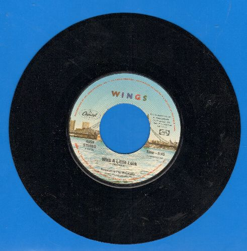 Wings - With A Little Luck/Backwards Traveller - VG7/ - 45 rpm Records